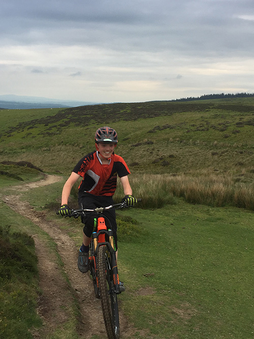 Alex Evans mountain biking