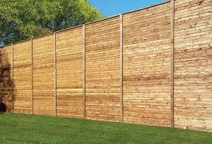 8 Soundwall Reflective Barrier reducing the noise from nearby commercial activity