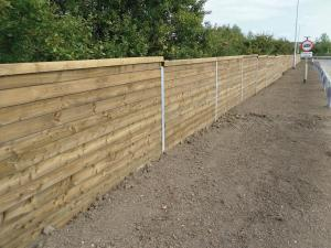 7 Soundwall Reflective Barrier reducing road noise
